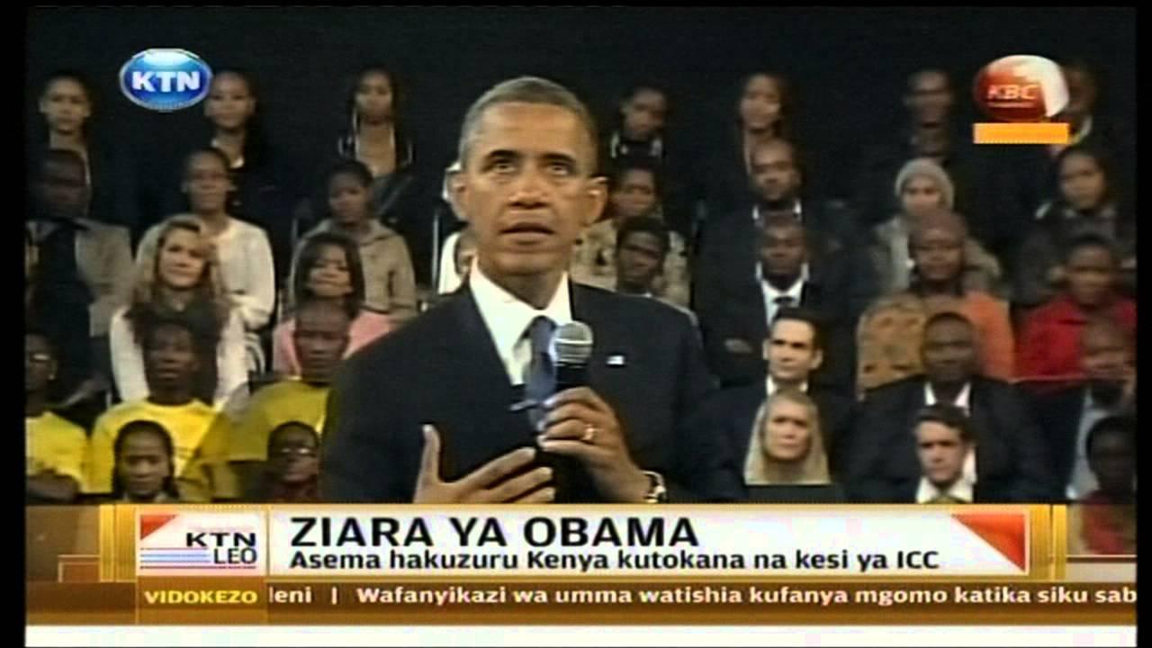 Download Rais Barrack Obama Asema Hakuzuru Kenya kutokana na kesi ya ICC