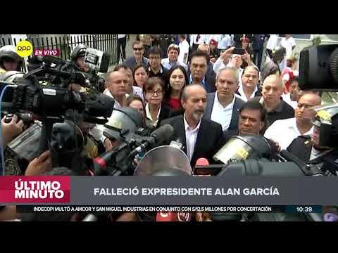 """Dirigentes apristas: Muerte de Alan García es consecuencia """"de todo un mecanismo de persecución"""" 1/2"""