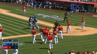 KC@LAA: Tempers flare between Trout, Ventura