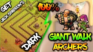 TH9 GIANT WALK MASS ARCHERS | 3 STAR ATTACK STRATEGY | 3 STAR JACK SPARROW'S BASE | Clash of Clans