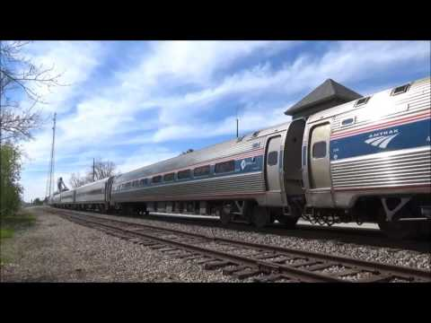 Amtrak (Test Train) P960 with the new Siemens Unit in Lapeer Michigan.