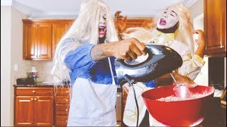 "BAKING BROWNIES AS ""WHITE CHICKS"" FROM THE MOVIE!!!!!  (EXTREMELY FUNNY)"
