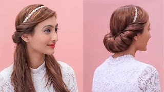 Hairstyles Using A Hairband | Grecian Updos
