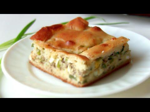 Пирог рыбный на кефире кулинарный рецепт