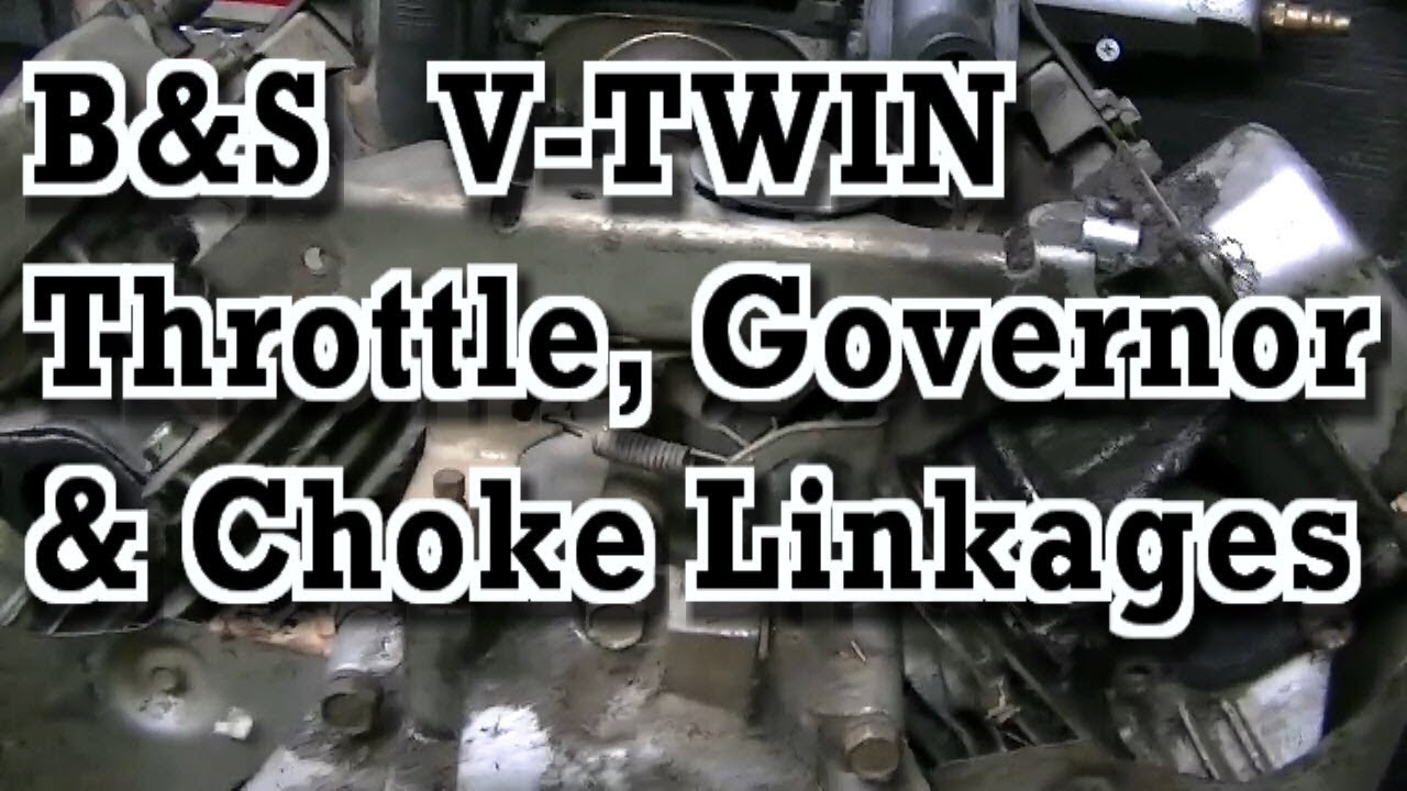 Briggs & Stratton VTWIN : Governor, Throttle and Choke Linkages  YouTube