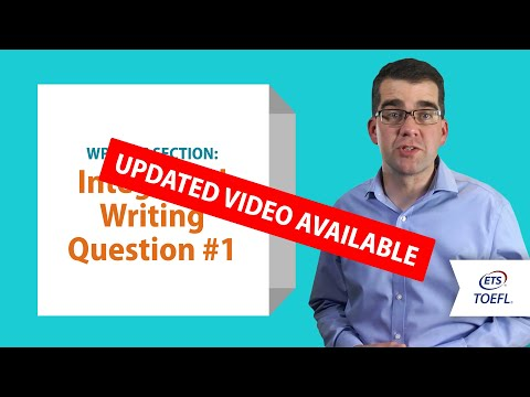 Inside the TOEFL® Test: Writing Question 1
