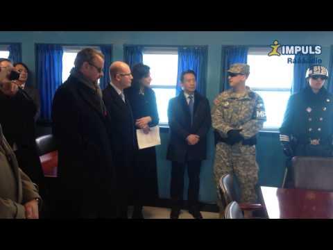 Česká delegace v Jižní Koreji navštívila hranici s KLDR