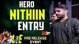 Hero Nithiin Entry @ LIE Movie Pre Release Event LIVE || Nithiin, Arjun, Megha Akash