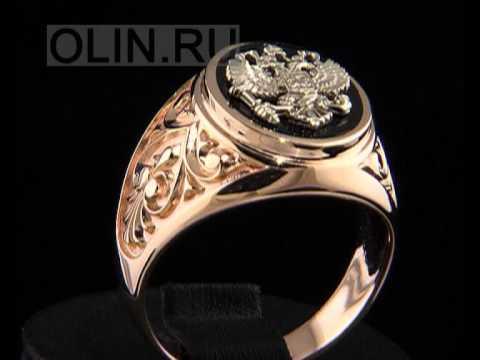 Мужской перстень из золота 750 пробы - YouTube