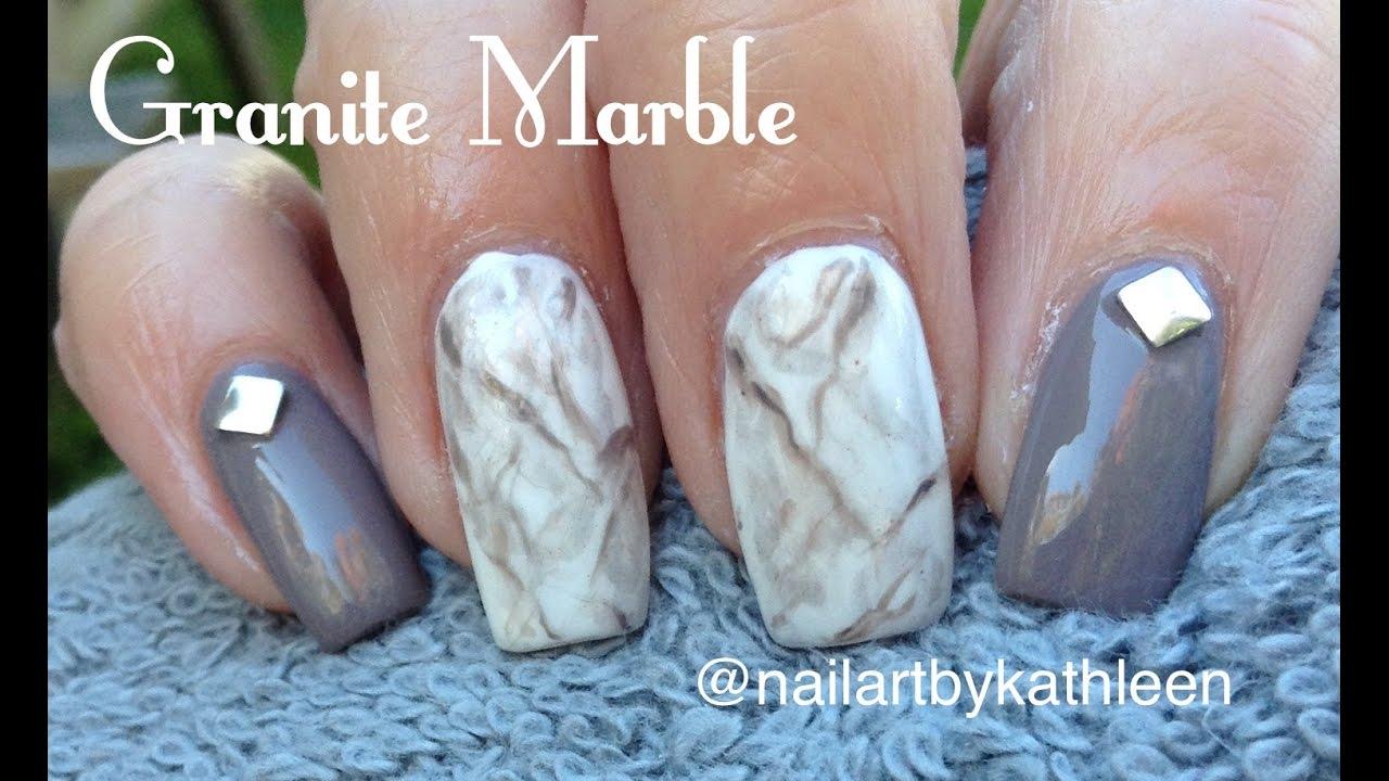 Diy Granite Marble Nails Using Regular Nail Polish