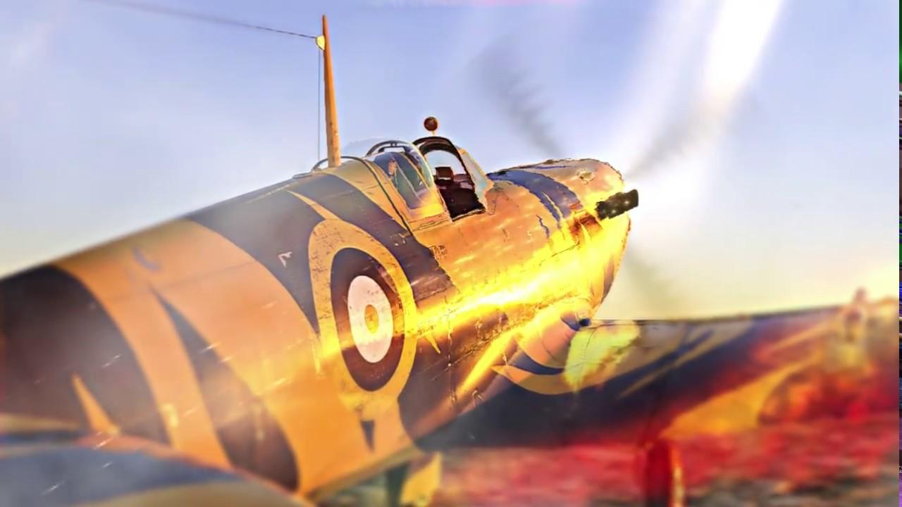 Blazing Spitfire - Wallpaper Engine
