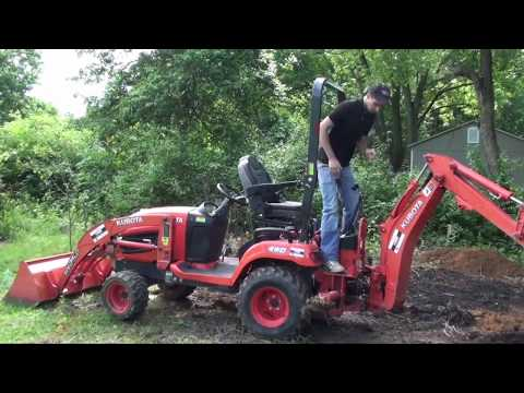 DIY Pond-Part 2-Digging Entire Pond In One Day-Kubota BX25D In Action