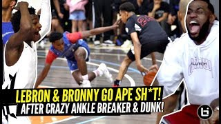 Download LeBron & Bronny LOSE THEIR MIND After CRAZY Ankle Breaker & Nasty POSTER DUNK!!! Game Gets HEATED! Mp3 and Videos