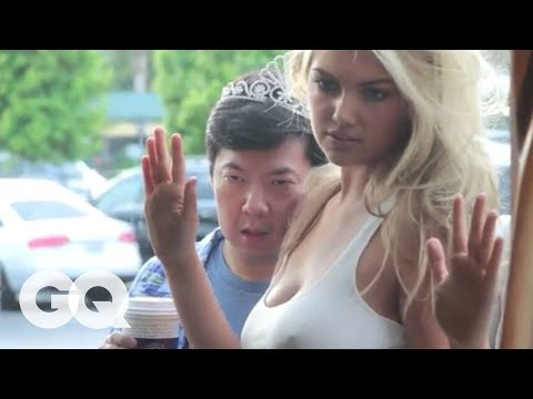Thumbnail: Ken Jeong Photobombs Kate Upton's GQ Photo Shoot - The Women of GQ