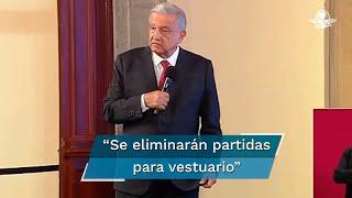 El presidente Andrés Manuel López Obrador dio un informe detallado del avance de sus 100 compromisos y afirmó que ya no se remodelan oficinas del gobierno federal, ni se compran mobiliario de lujo