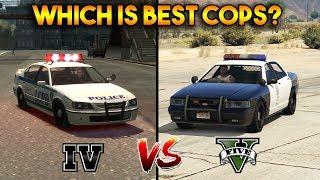GTA 5 COPS VS GTA 4 COPS (WHICH IS BEST COPS?)