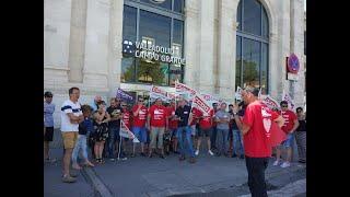 CCOO y trabajadores de Renfe se concentran en Valladolid