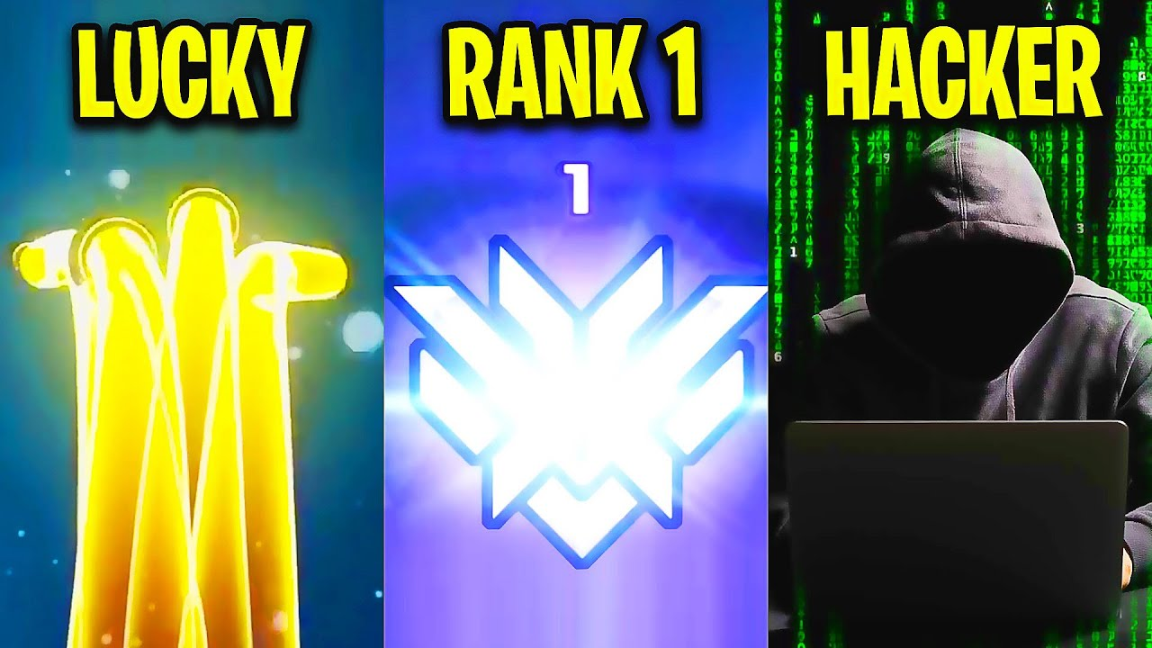 LUCKY VS RANK 1 VS HACKER! - Overwatch