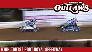World of Outlaws Craftsman Sprint Cars Port Royal Speedway Highlights