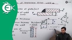 Strength of Transverse Fillet Weld - Design of Welded Joints - Design of Machine