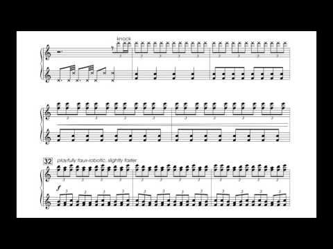 hammers (2015) for toy piano [score video]