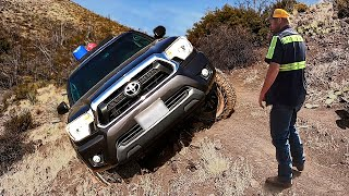 Toyota Tacoma About To Flip Over