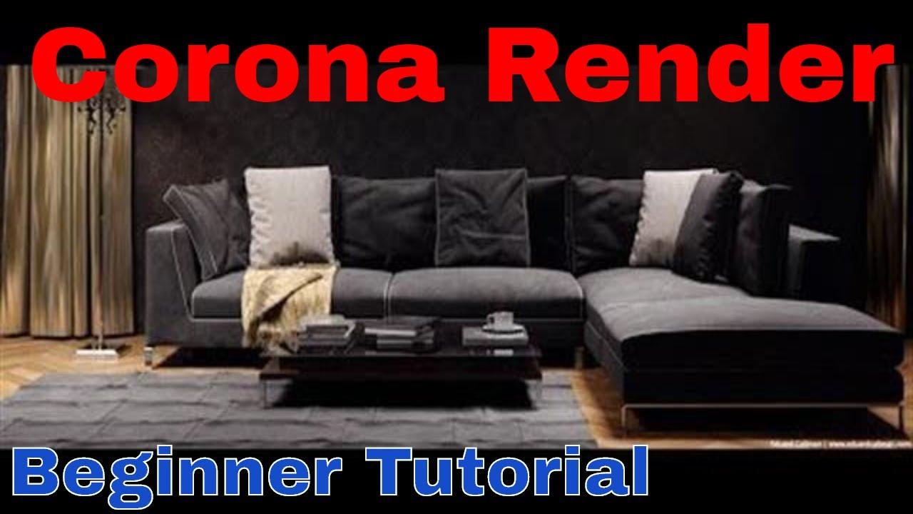 Corona Render Beginner Tutorial / 3DMAX / Exterior / Interior 教學 - YouTube