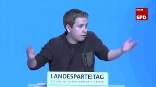 Rede von Kevin Kühnert in der Generalaussprache | Landesparteitag der SPD Berlin am 02.06.2018
