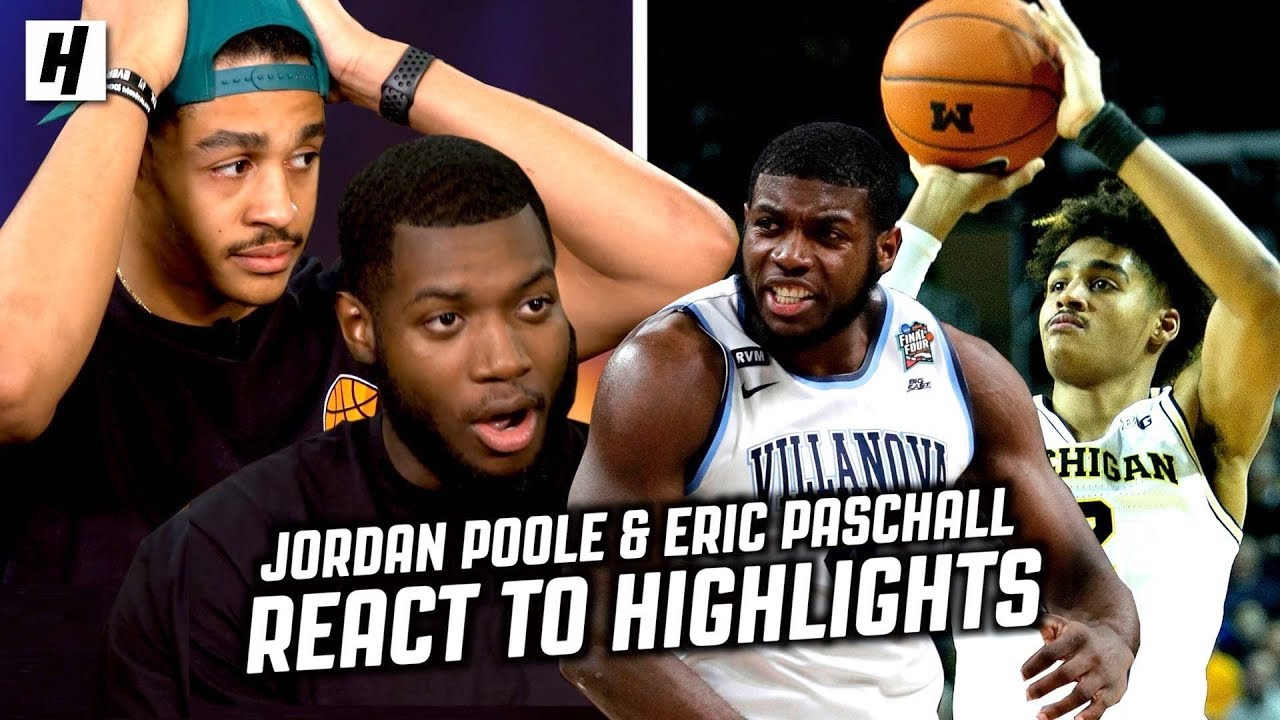 Jordan Poole and Eric Paschall React To College + WarriorsHighlights