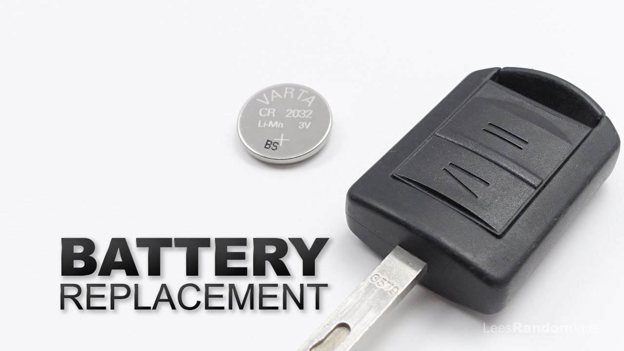 How To Change The Battery In A Vauxhall Key Fob Opel Car Key
