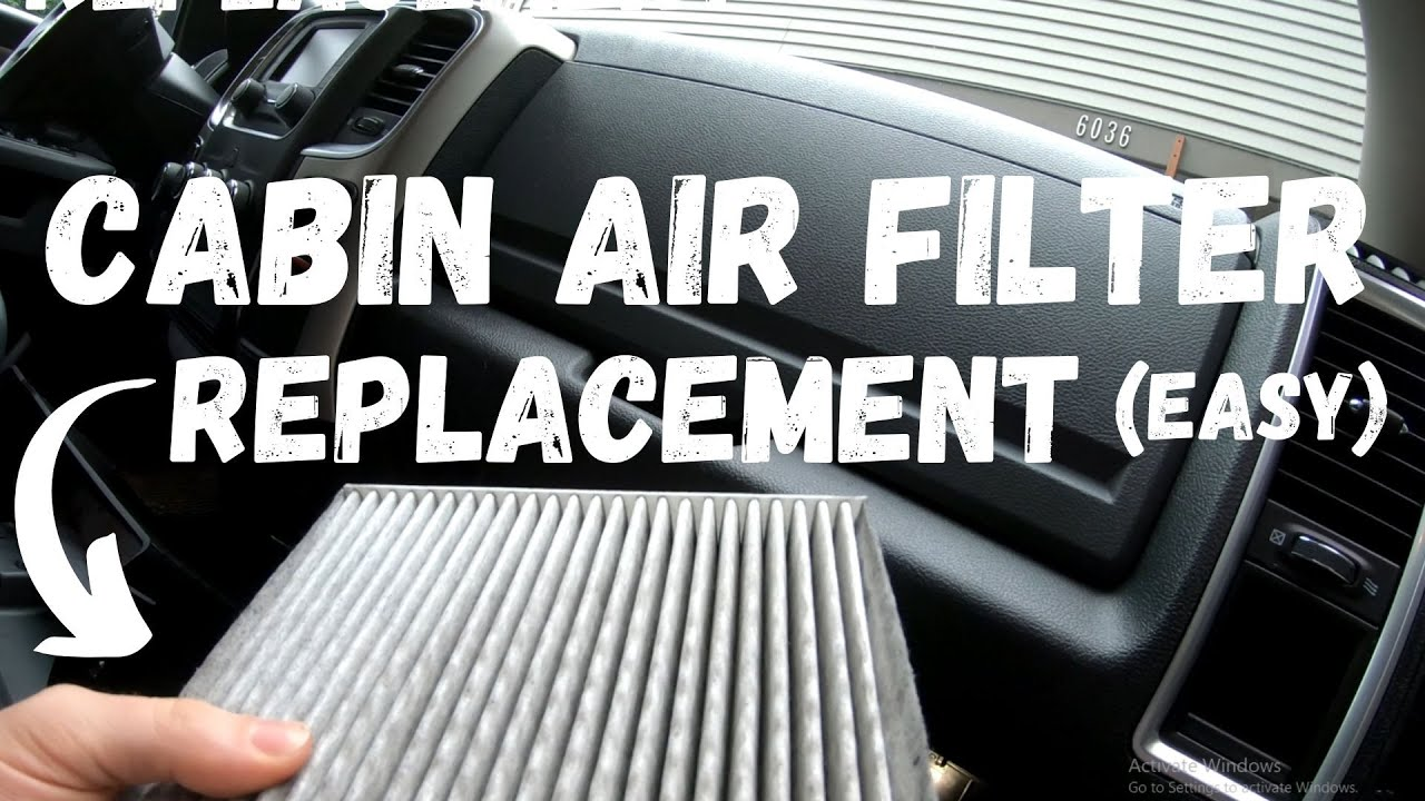 Ram 1500 Cabin Air Filter Replacement Super Easy And Location Youtube