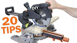 20 Miter Saw Tips for Beginners