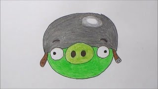 How to Draw the Corporal Pig (Angry Birds)