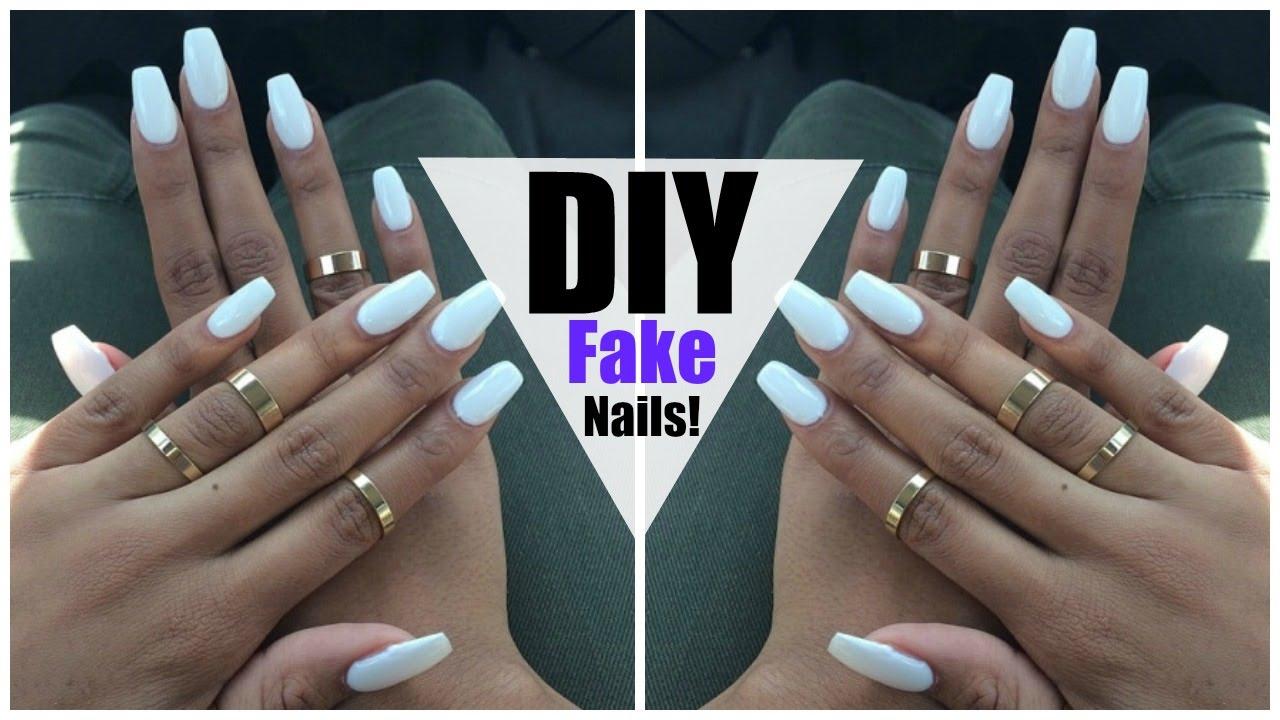 diy easy fake nails home