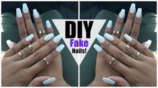 DIY: EASY FAKE Nails at HOME! (NO ACRYLIC) thumbnail