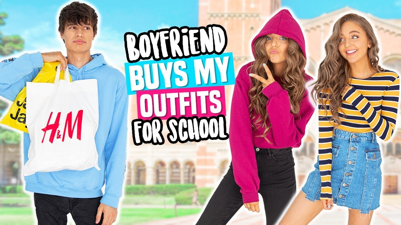 BOYFRIEND BUYS MY OUTFITS FOR BACK TO SCHOOL! Shopping Challenge 2018