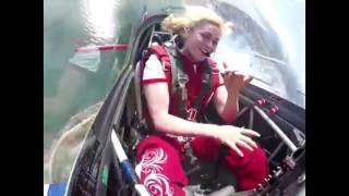 Stunt Pilot filmed with GO-PRO 5 \ Girl Stunt Pilot