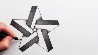 How to Draw Aฑ Impossible 3D Star Narrated Step By Step