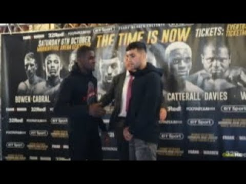 JACK CATTERALL v OHARA DAVIES HEAD-TO-HEAD @ FINAL PRESS CONFERENCE / LEICESTER / CATTERALL v DAVIES