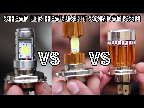 Cheap LED Headlights Comparison   Which Is The Best?   Must Watch