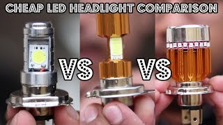 Cheap LED Headlights Comparison | Which is the best? | Must Watch