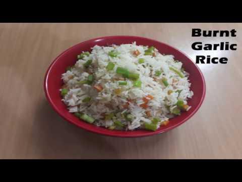 Garlic Burnt rice - Burnt Garlic Vegetable Fried Rice - burnt garlic fried rice recipe