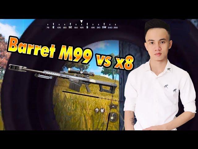 ROS Mobile : Sự bá đạo của Barrett M82A1 và x8 scope - Quang Brave