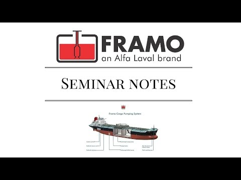 Framo Cargo Pumps System Notes from 2005 seminar Marine Engineer find the problems