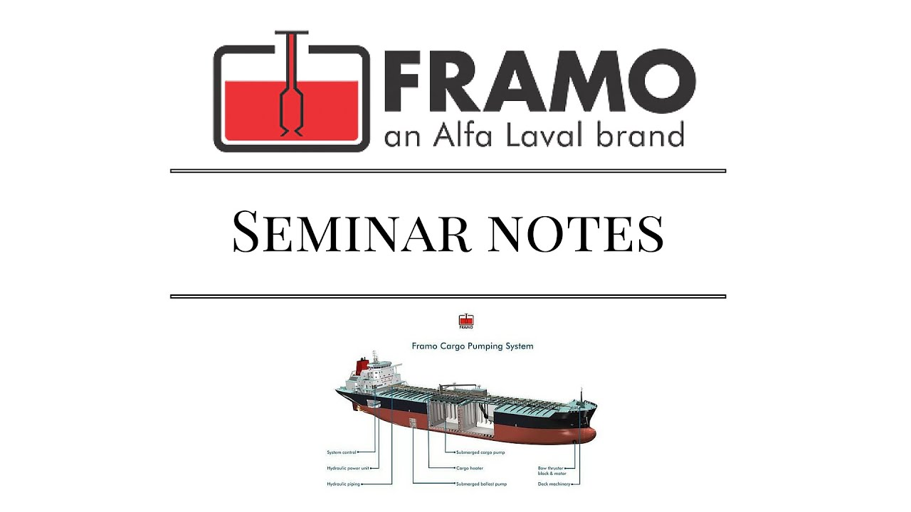 Framo Cargo Pumps System Notes From 2005 Seminar Marine Engineer Piping Diagram Ship Find The Problems