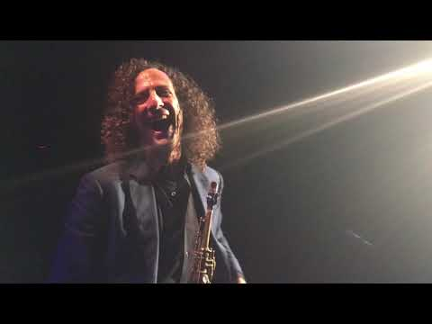 On the podium with famous Kenny G, Cerritos California