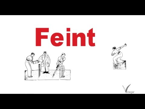 Feint -meaning in English and Hindi with usage