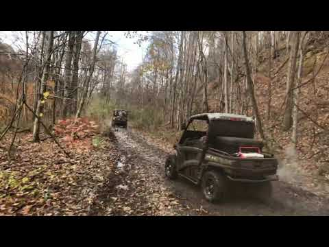 Outlaw trails in West Virginia John Deere Gator 850i RSV Honda Pioneer 1000