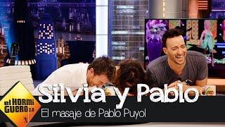 El masaje de Pablo Puyol a Silvia Abril en