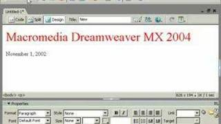 урок Dreamweaver видеоурок четвёртый 001 на русском языке